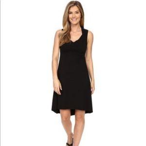 Black PRANA Alana Hooded Hi Low Sleeveless Dress